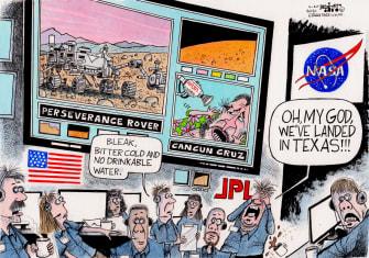 Editorial Cartoon U.S. mars rover perseverance texas