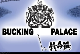 Editorial Cartoon World Prince Harry Meghan Markle Megxit