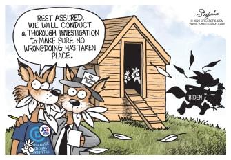 Political Cartoon U.S. Biden media Tara Reade bias DNC