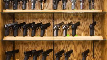 A gun shop in North Dakota.