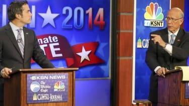The most awkward part of last night's Kansas Senate debate