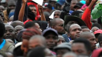 Protesters demand the resignation of President Robert Mugabe in Zimbabwe