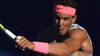 Rafael Nadal at the 2018 Australian Open.