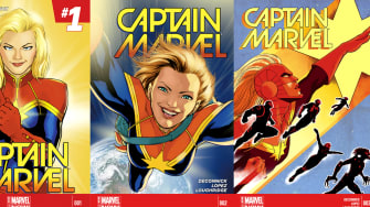Captain Marvel covers.