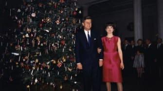 President John F. Kennedy reassured a little girl that Santa was safe.