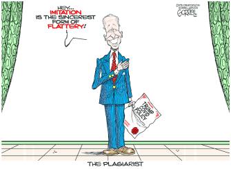 Political Cartoon U.S. biden trump covid policy