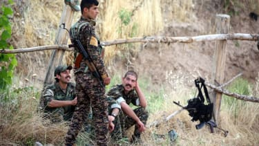 Kurdish YPG fighters before the assault on Raqqa