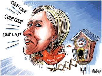 Political Cartoon U.S. marjorie taylor greene qanon