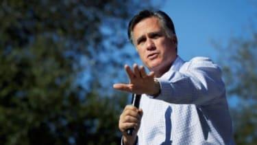 Presidential hopeful Mitt Romney