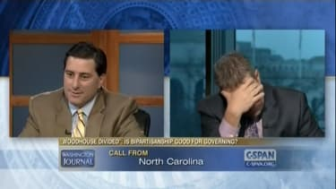 'Oh God, it's Mom': Pundit's mother calls into C-SPAN to nag sons about family time