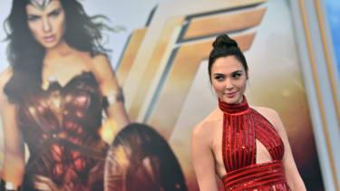Gal Gadot at Wonder Woman premiere.