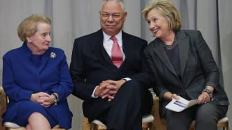 Madeline Albright, Colin Powell, and Hillary Clinton in 2014