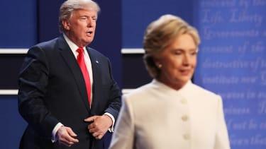 Clinton and Trump at the third presidential debate