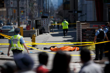 Several people were killed or injured after a van plowed into pedestrians in Toronto.
