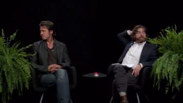 Watch Zach Galifianakis skewer Brad Pitt on 'Between Two Ferns'