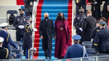 Barack and Michelle Obama.