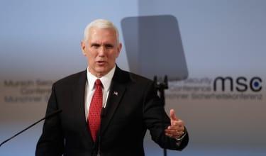 Vice President Mike Pence speaks in Munich