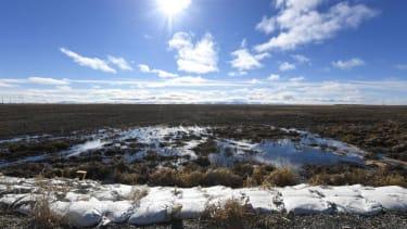 Melting permafrost in Alaska.