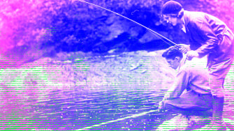 People fishing.
