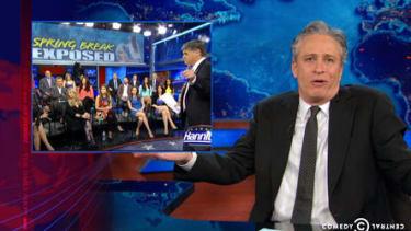 Jon Stewart gleefully deconstructs Sean Hannity's Spring Break exposé