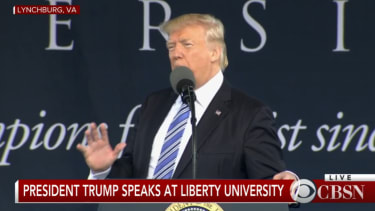President Trump speaks at Liberty commencement