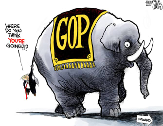 Political Cartoon U.S. Trump GOP election loss