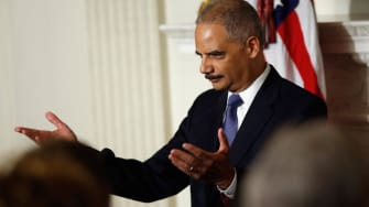 Eric Holder tears up announcing resignation: 'I will continue to serve'
