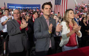 Rep. Matt Gaetz at a Donald Trump rally.