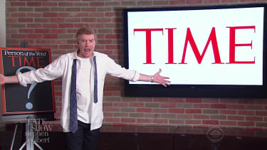 The Late Show imagines Time naming Donald Trump its person of the year