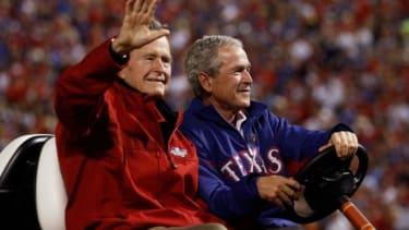 Bush junior and senior