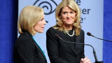 Sen. Kirsten Gillibrand (D-N.Y.) and Republican challenger Wendy Long.