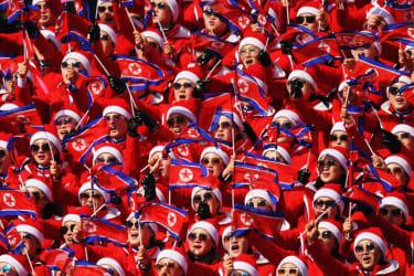North Korea's cheerleaders at the 2018 Winter Olympics.