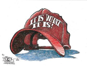 Political Cartoon U.S. Trump coronavirus it is what it is