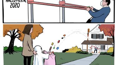 Editorial Cartoon U.S. Halloween covid social distancing