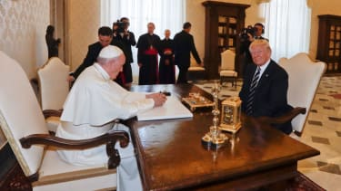 Pope Francis and President Trump meet at the Vatican