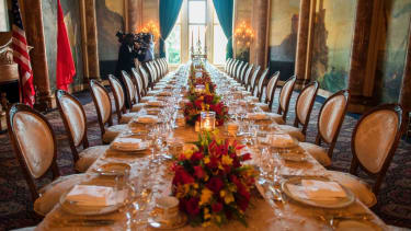Mar-a-Lago all decked out for dinner.