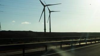 Wind turbines in Fuerteventura, Spain