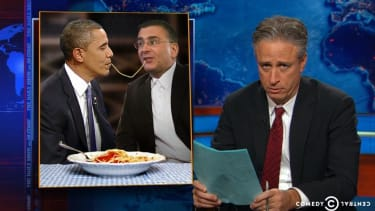 Jon Stewart thinks Jon Gruber's 'dickish comments' are the GOP's best shot at finally sinking ObamaCare