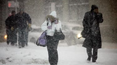 Commuters in New York and Boston can expect nasty weather Thursday morning.