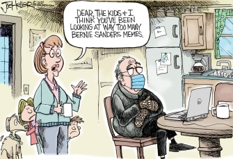 Editorial Cartoon U.S. Bernie Sanders memes