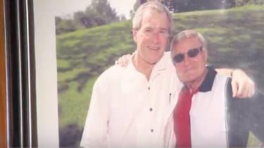 Charlie Brotman with George W. Bush.