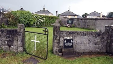 This picture shows a shrine in Tuam, County Galway on June 9, 2014, erected in memory of up to 800 children who were allegedly buried at the site of the former home for unmarried mothers run