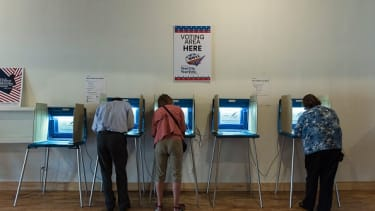 Voters cast early ballots in Minneapolis.