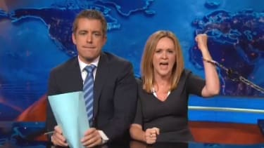 Jason Jones anchors a special marital-strife Daily Show on Biden, police homicides