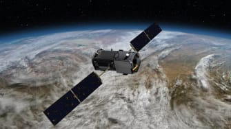 The Orbiting Carbon Observatory makes precise, global measurements of carbon dioxide.