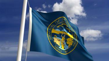 Nebraska state flag.