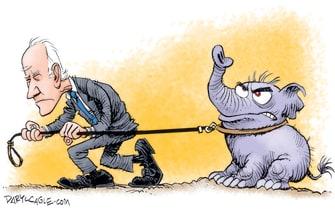Political Cartoon U.S. biden gop