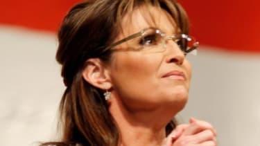 Sarah Palin speaks in Denver, Colorado.