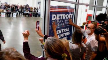 Protesters in Michigan.