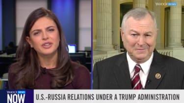 Bianna Golodryga challenges Dana Rohrabacher on the topic of Russia.